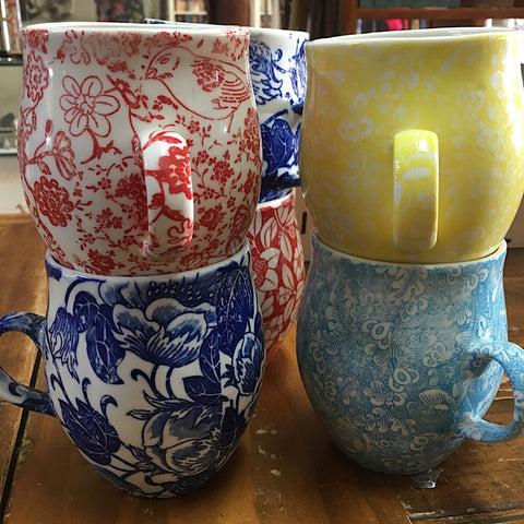 PAINTED CERAMIC MUGS BY SAMANTHA ROBINSON