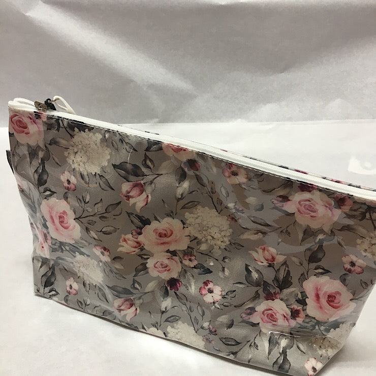COSMETIC BAG ROSES - LARGE