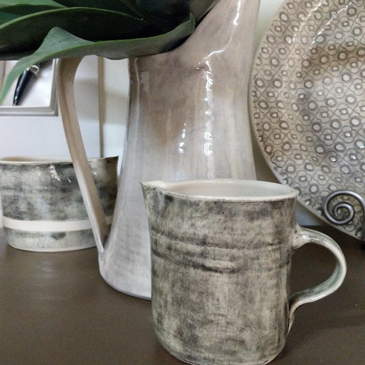 CERAMIC MILK JUG 250ML BLACK WASH