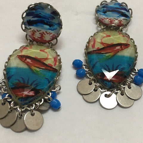 BLUE SALMON AYALABAR EARRINGS