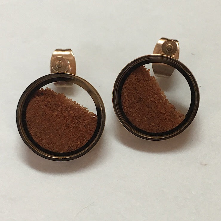 RED DESERT SAND EARRINGS