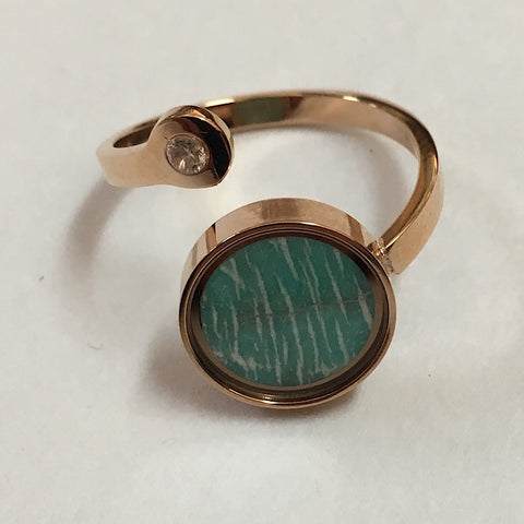 AMAZONITE ADJUSTABLE RING