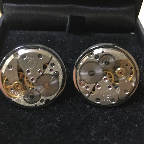 ROUND WATCH CUFFLINKS