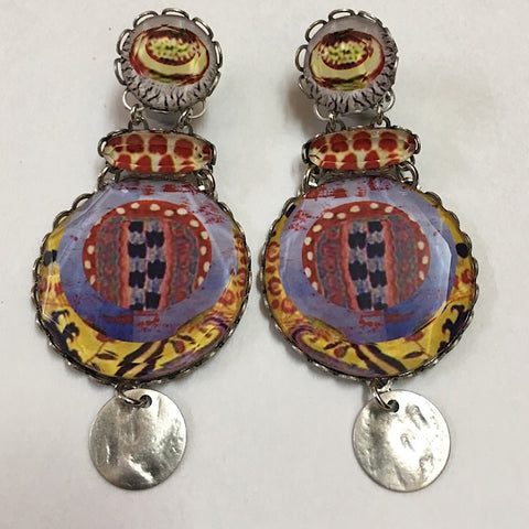 LARGE CLIP ON AYALABAR EARRINGS