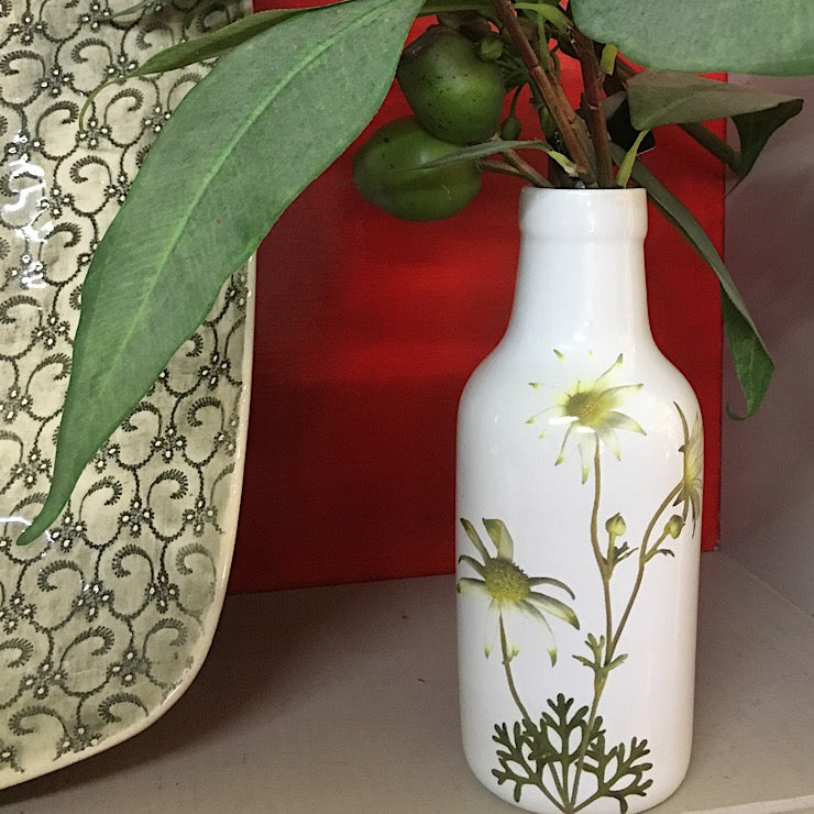 FLANNEL FLOWER CERAMIC VASE