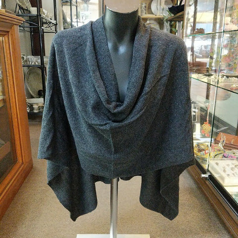 CASHMERE TOPPER CHARCOAL