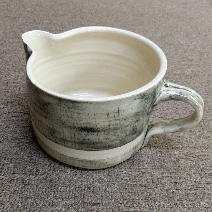 CUSTARD JUG BLACK BEACH SAND