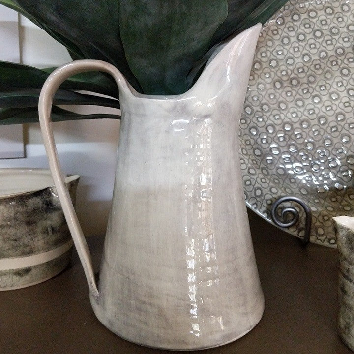 WONKI WARE CERAMIC JUG GREY WASH