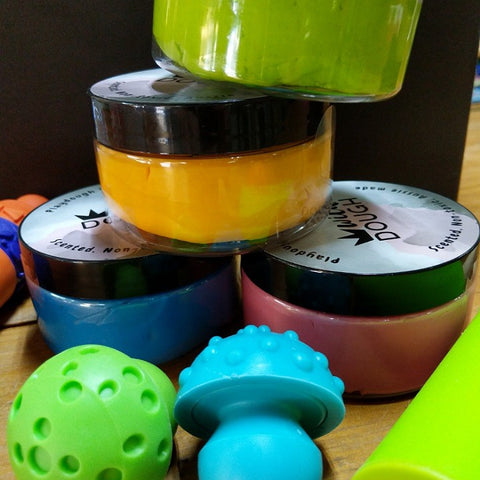 PLAYDOUGH KIT WITH CUTTERS AND ROLLERS