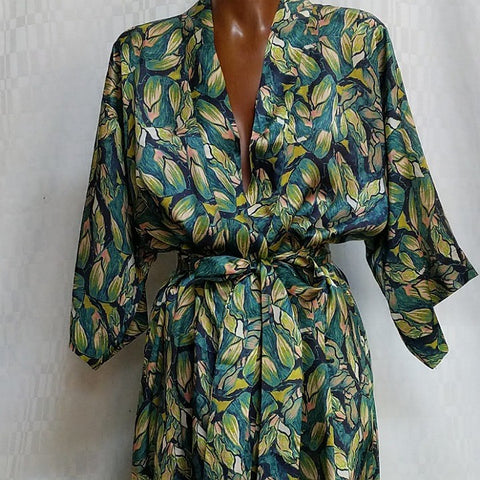 SILK ROBE XS BLOOMSBURY