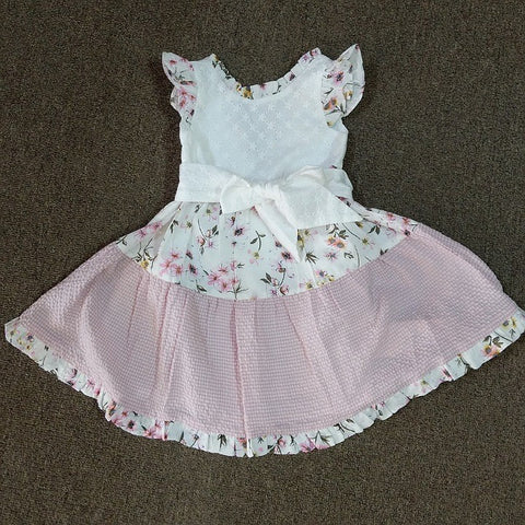 GIRLS COTTON FLORAL DRESS