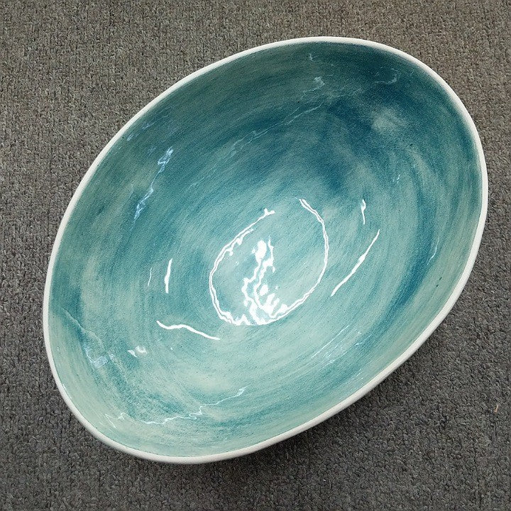 SALAD BOWL CERAMIC BEACH SAND