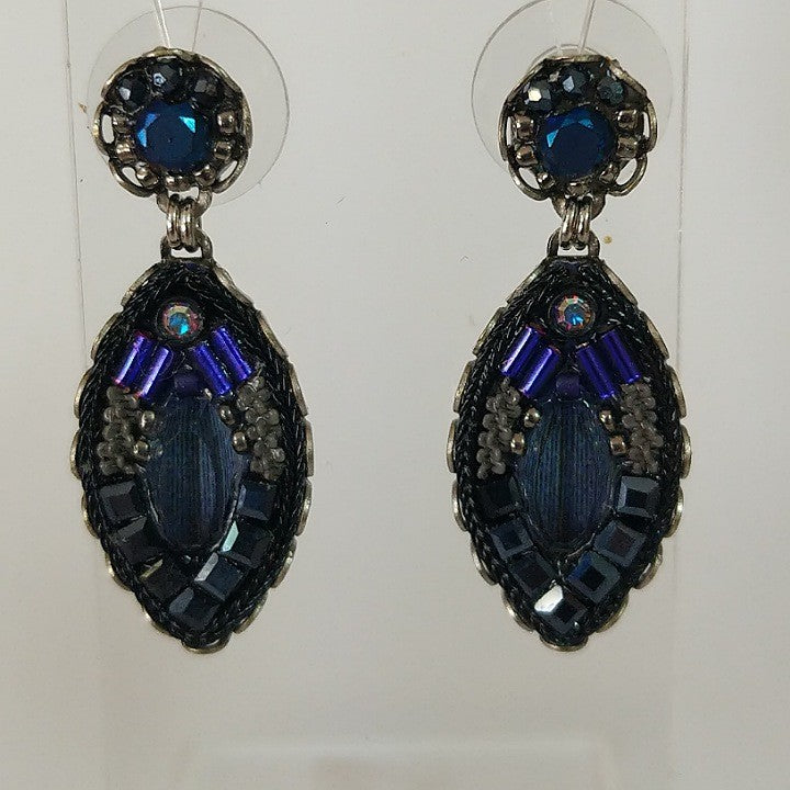 AYALABAR EARRINGS PURPLE NAVY