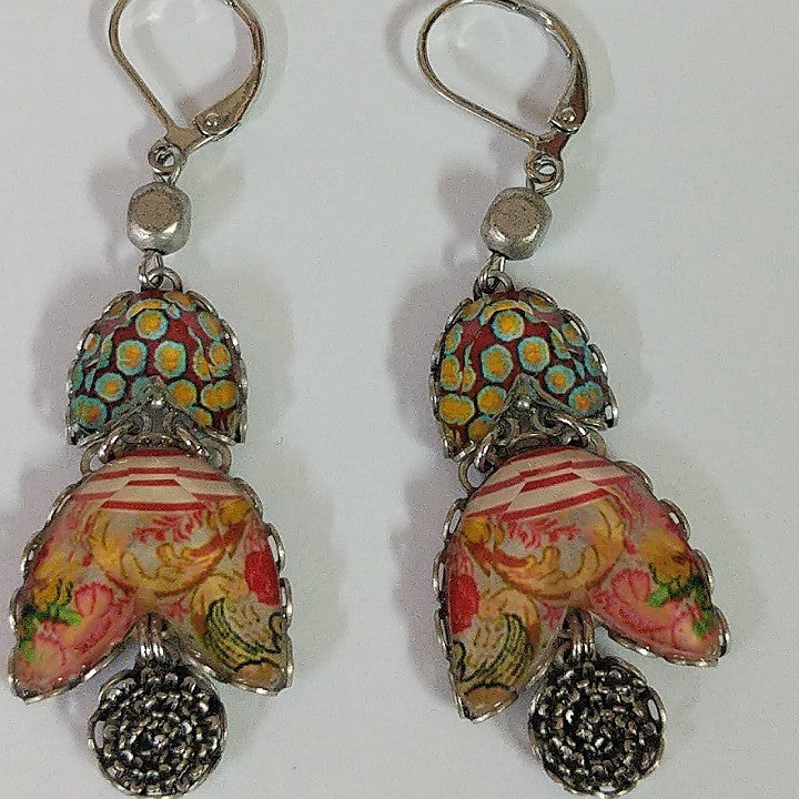 AYALABAR EARRINGS CLASPED HOOK SPOTTED BELLS