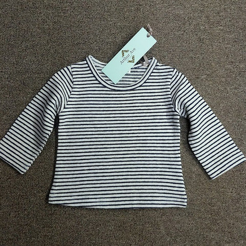 LONG SLEEVE TOP NAVY STRIPE