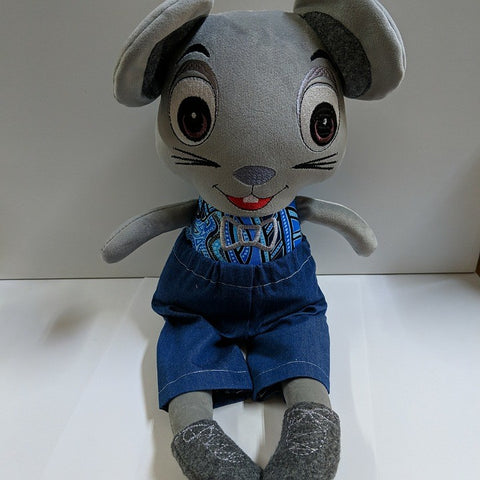 AUSTRALIAN HANDMADE SOFT TOY MOUSE BOY