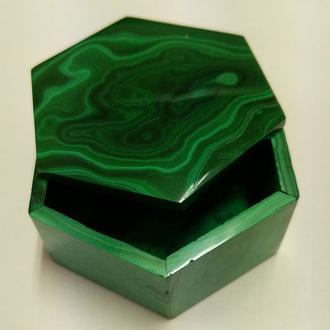 MALACHITE STONE TRINKET BOX