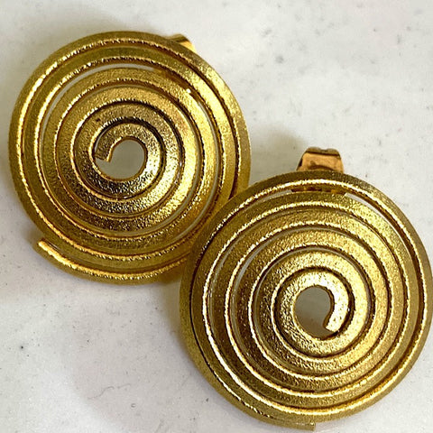 GOLD SPIRAL STUD EARRING