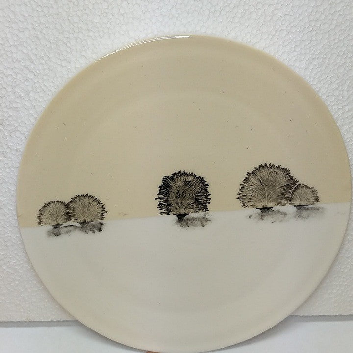 CERAMIC PLATE PAINTED WITH TREES