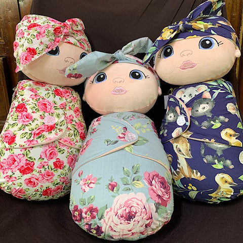 CLOTH SWADDLE DOLL HANDMADE LARGE