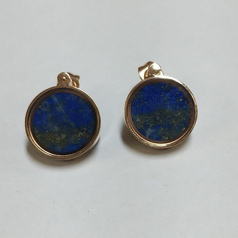 LAPIS LAZULI CAPTURED IN ROSE GOLD EARRINGS