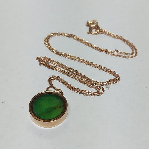 AUSTRALIAN JADE ROSE GOLD NECKLACE