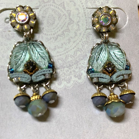 AYALABAR EARRINGS PALE BLUE
