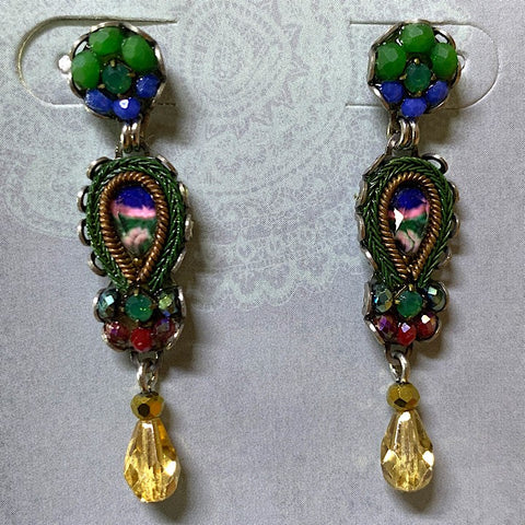 AYALABAR EARRINGS GREEN BLUE