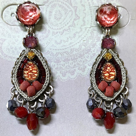 AYALABAR EARRINGS ROSE TONES