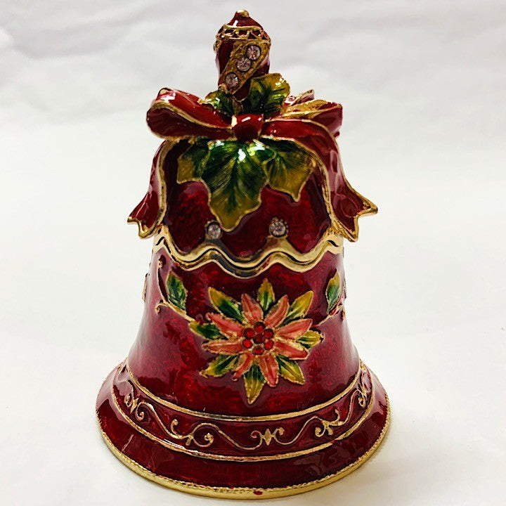 RED CHRISTMAS BELL TRINKET BOX