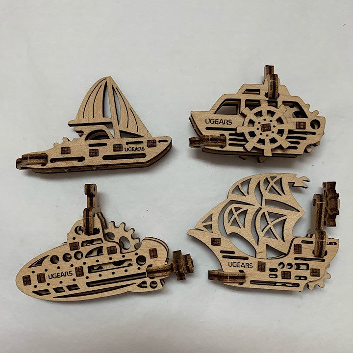 FOUR WOODEN MODELS