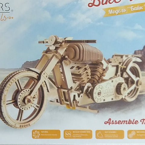 UGEARS MECHANICAL WOODEN BIKE MODEL