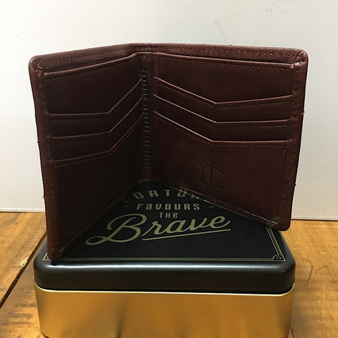 MANS BI-FOLD LEATHER WALLET WITH CONTACTLESS PAYMENT BLOCKING