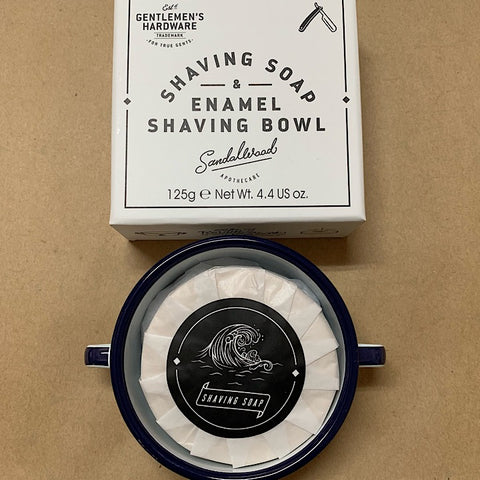 SHAVING SOAP AND BOWL