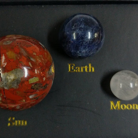 THE EARTH SUN AND MOON