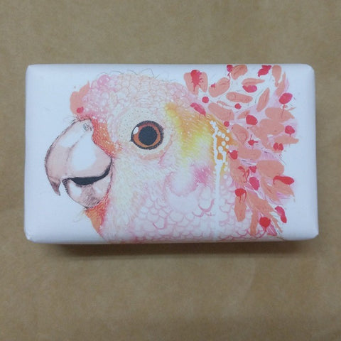 LEMONGRASS SCENTED SOAP WITH GROTTI LOTTI COCKATOO ARTWORK