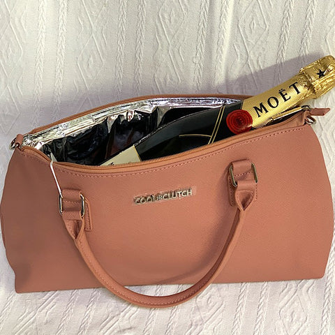 COOL CLUTCH PINK WINE BAG