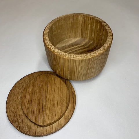 WOODEN SALT PINCH POT