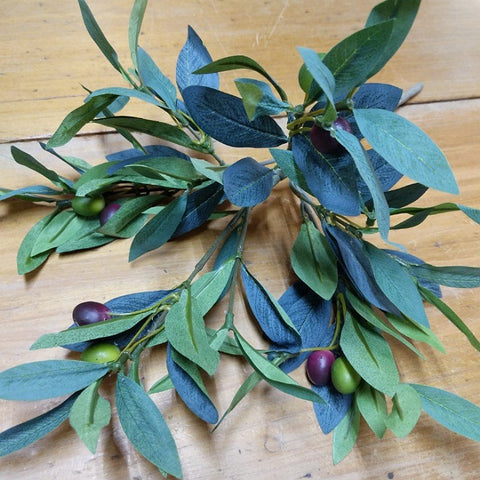 DECORATIVE OLIVE BRANCH WITH OLIVES