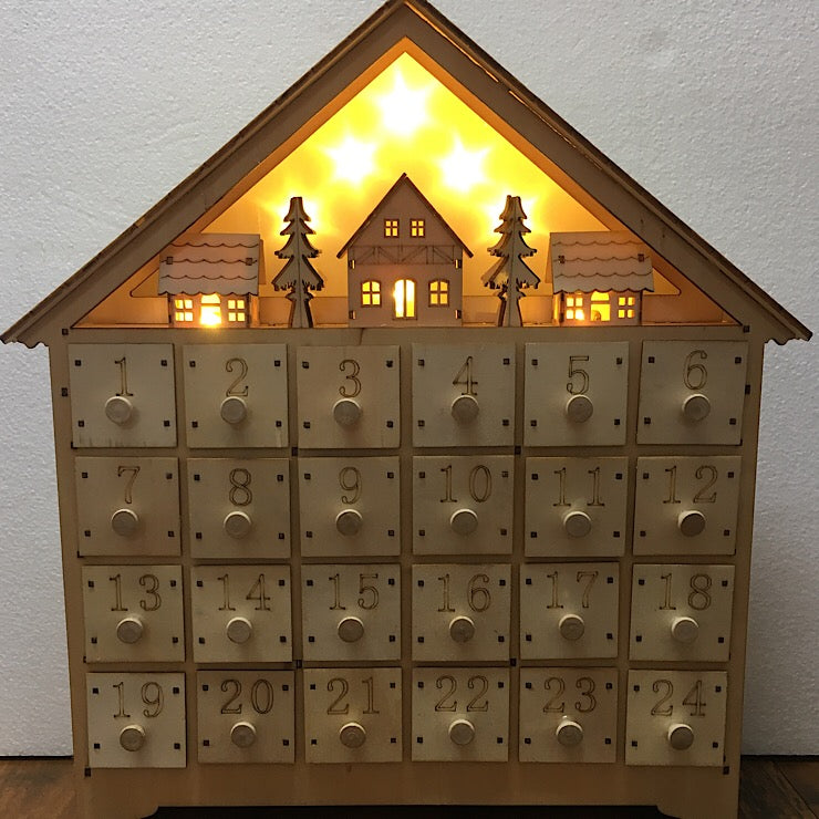 Wooden Advent Calendar Spinifexcollections