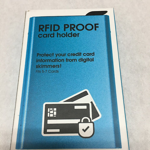 RFID PROOF CARD HOLDER - BLUE