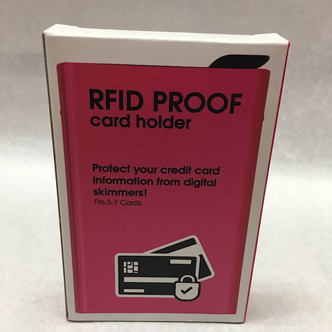 RFID PROOF CARD HOLDER- PINK