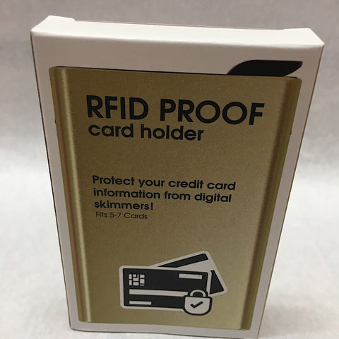RFID PROOF CARD HOLDER - GOLD