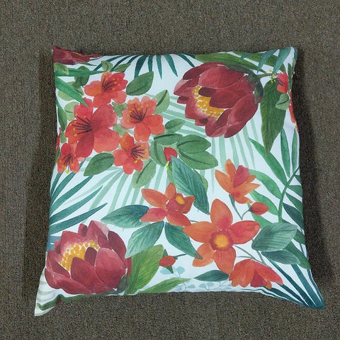 OUTDOOR CUSHION TROPICAL PRINT 50 CM X 50 CM