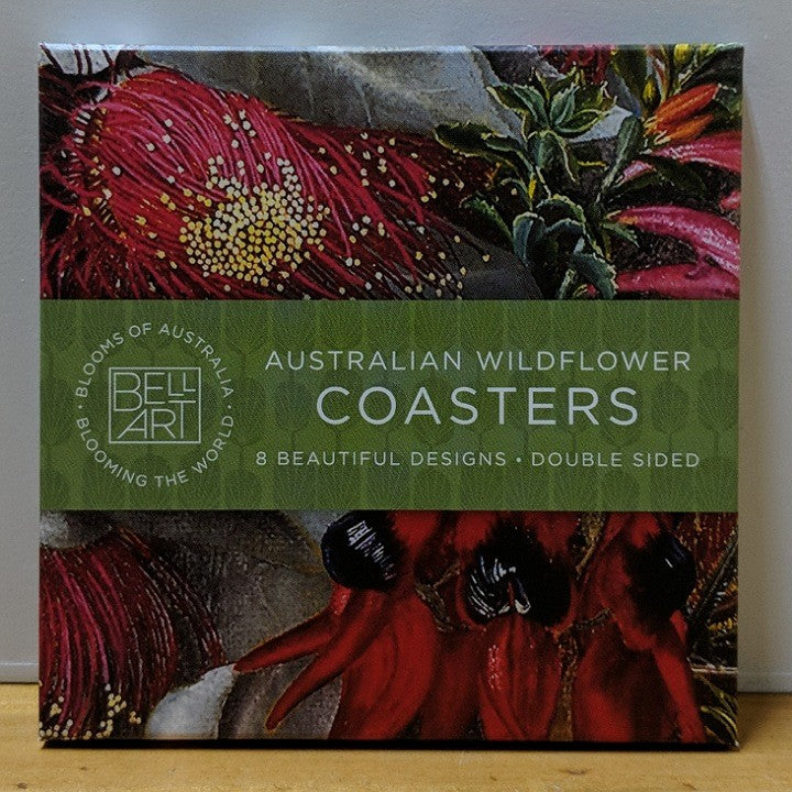 AUSTRALIAN WILDFLOWER COASTERS