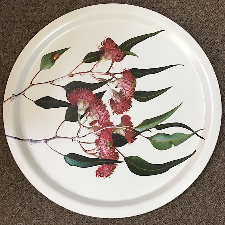 BIRCH WOOD TRAY EUCALYPT PAINTING