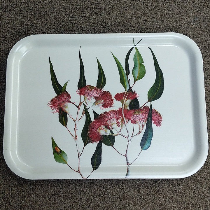 BIRCH WOOD TRAY RECTANGULAR EUCALYPT PAINTING