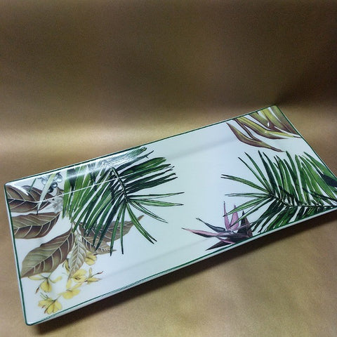 BOTANICAL PRINT CHINA TRAY