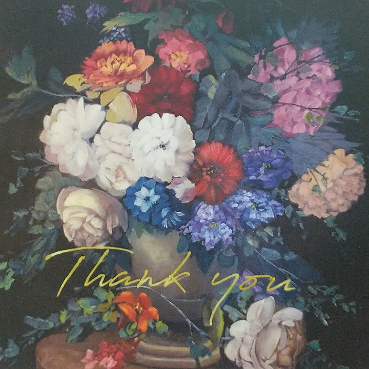 THANK YOU FLORAL ARRANGEMENT GREETING CARD