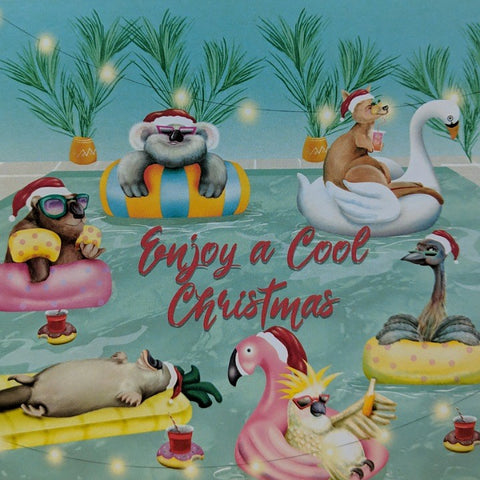 GREETING CARD COOL CHRISTMAS